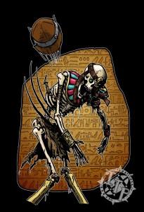 donc pour commencer un lanceur squelette d'une équipe de Khemri à Blood Bowl)